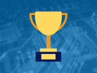 Illustration of trophy on top of a motherboard