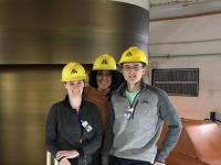 Christine Folch and students inside the Itaipu dam