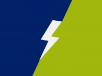 Lightning bolt on a blue and green background