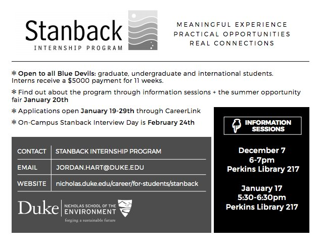 Stanback Internship Program Information Session | energy