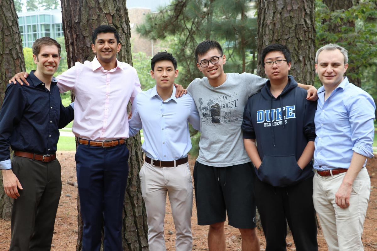 Dr. Bradbury, Varun, Paul, Fanjie, Andy, and Dr. Malof posing for a Data+ team photo