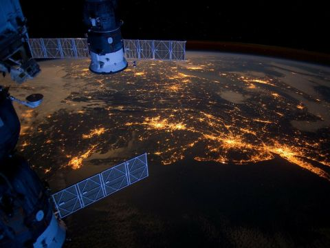 Satellite over the USA