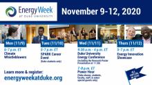 Energy Week Schedule