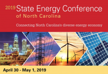 2019 State Energy Conference of North Carolina, April 30 - May 1, 2019