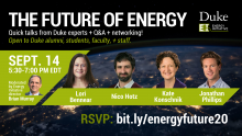 The Future of Energy Talk on Sept. 14
