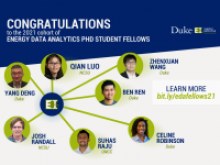 Energy Data Analytics Ph.D. Fellows Program announces 2021 cohort with students from Duke University, NC State University, and UNC Charlotte