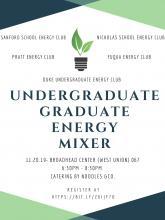 Undergrad-Grad Mixer Energy